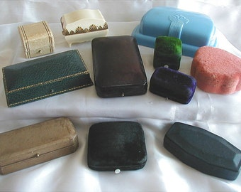 Vintage Jewelers Jewelry Presentation Boxes Lot