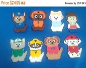 Flash Sale Paw Patrol Inspired Finger Puppets..  Rider,  Marshall, Chase, Rubble, Skye, Rocky, Zuma, Everest... Great for Birthday Parties