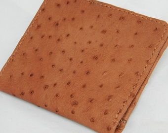 Unisex Genuine Ostrich Leather Wallet