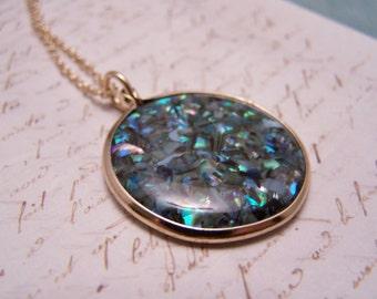 Paua shell Necklace.