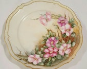 Antique Favorite Royal Austria Hand Painted Cabinet Plate Artist Signed 1907