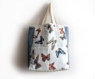 CLEARENCE SALE Large Tote Bag- Butterfly