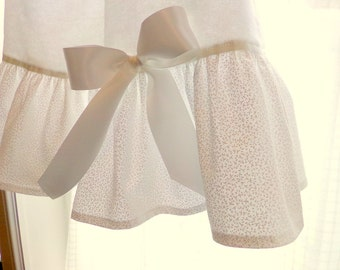 "Girls Nightgown 4T Ready To Ship ""White On White With Satin Bows"" Flannel betrueoriginals"
