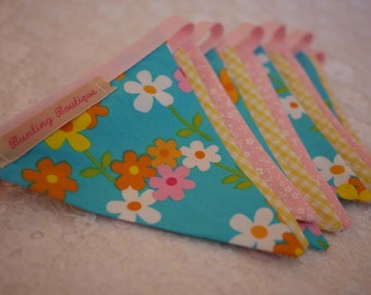 Small Classic Bunting. Kids Bunting // Cotton Bunting // Floral Bunting // Wedding Decor // Party Bunting // Handmade Bunting // Garland.