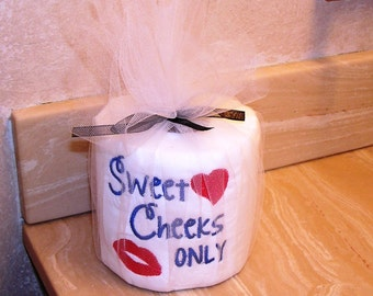 Embroidered Toliet Paper Sweet Cheeks
