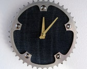 Recycled Vintage Shimano Bicycle Chainring Wall Clock