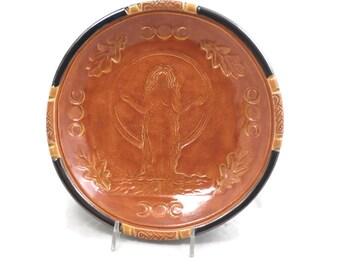 Goddess  Autumn Gaia  Offering Bowl Handmade Pottery Autumn Gaia