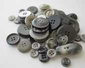 Grey/Gray Buttons - various sizes - OVER 50 - See Shop Announcement for 60% off code
