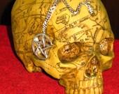 Salem Witch Skull~Ancestor Altar~Statue~Resin Skull