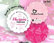 Wedding Planner Business Cards, Avon Business Card, Custom Custom Business Card, Cards, Business Card, Small Business // Harper S-SB27 UU4