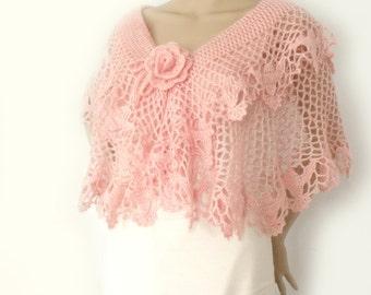 Crochet cape, Lace crochet cape, Bridal wedding cape, Bridal shawl, Boho cape, Bridesmaid cape, Crochet shawl, Summer cape, Lolita cape