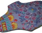 Light Core- Candy Shop Reusable Cloth Maxi Pad- WindPro Fleece 10 Inches (25.5 cm)
