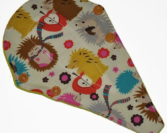 Liner Core- Hedgehog Meadow Reusable Cloth Thong Liner Pad- Windpro Fleece- 8 Inches