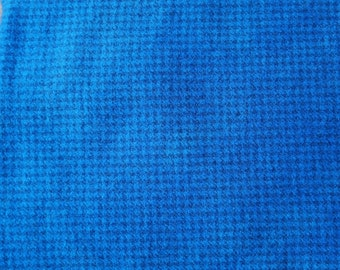 Copenhagen Blue Houndstooth Hand Dyed Felted Wool Fabric - Hand Dyed - 100% Wool - Wool Applique, Quilting by Quilting Acres