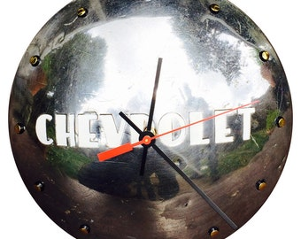 Hubcap Clock,  Chevy, detailed with numbering (v010711 hub cap)