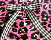 Dog Diapers Britches or Panties Ultra Soft Pink Corduroy with Black and White Cheetah Paws