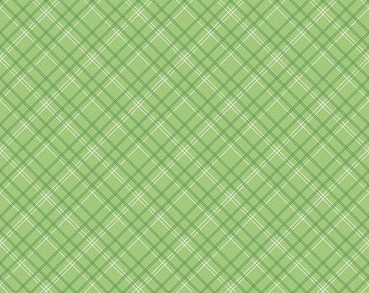 Calico Plaid Green- Calico Days by Lori Holt for Riley Blake-C6036-Plaid Green