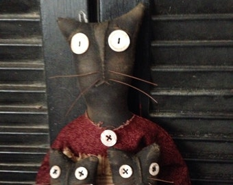 Primitive Kit.Cat and Kaboodle Doll