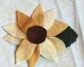 Custom order for Amber... Wool Felt Sunflower pin for purse