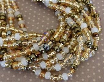 free UK postage 150 beads Czech Glass Beads 4.1mm Honey Butter SB6-MIX22