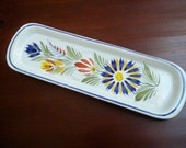 Vintage Home Decor Quimper Pickle Dish Made in France Collectible Dish
