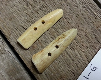 Deer Antler Buttons- Matched Pair-  Lot No. 160801-G
