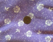 1/2 Yard Beautiful Vintage  Lavender and White  - 41 selveges