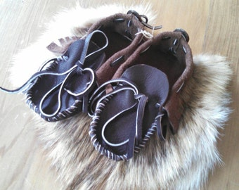 Buffaloskin Kids Moccains --- Pre-made Children's Size 11