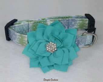 Winter Wonderland Dog Collar Size XS through Large by Doogie Couture Pet Boutique