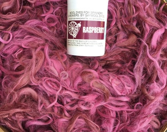 "Suri Alpaca Fiber, Seconds, Raspberry, Hand-Dyed, ""Savannah and Ikon"""