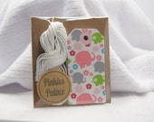 Small Elephant Gift Tags Birthday Tags Shower Tags Favor Tags Set of 12 - T507