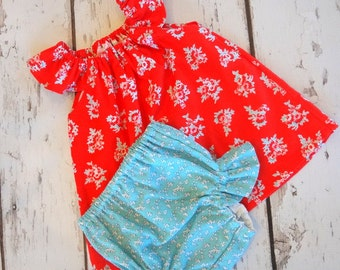Baby Toddler Flutter Sleeve Top and Panties Set