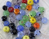 Bead Soup - Colorful Beads with Evil Eye - Mixed Colors - Glass Rondelles Bead Mix #13