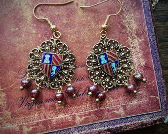 Historical Coat of Arms Earrings