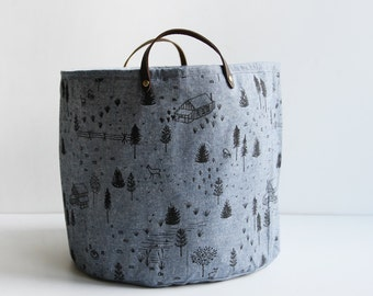 Medium Bucket - Chambray Homestead