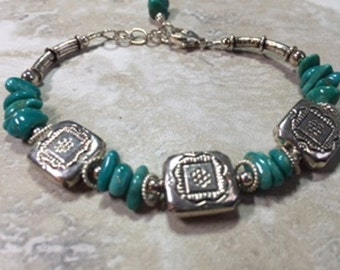 Rare Nevada Fox turquoise and sterling silver bracelet. Free shipping in the US!