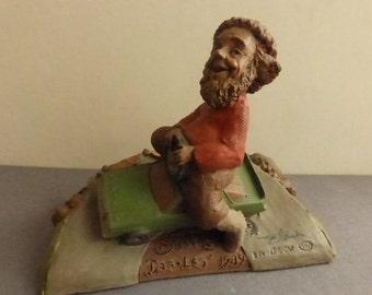 Vintage Cairn Studio Tom Clark Gnome Dog-Leg  Race Car Driver Re-Signed