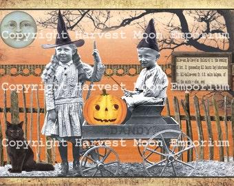 TRICK or TREAT - Primitive Halloween Postcards