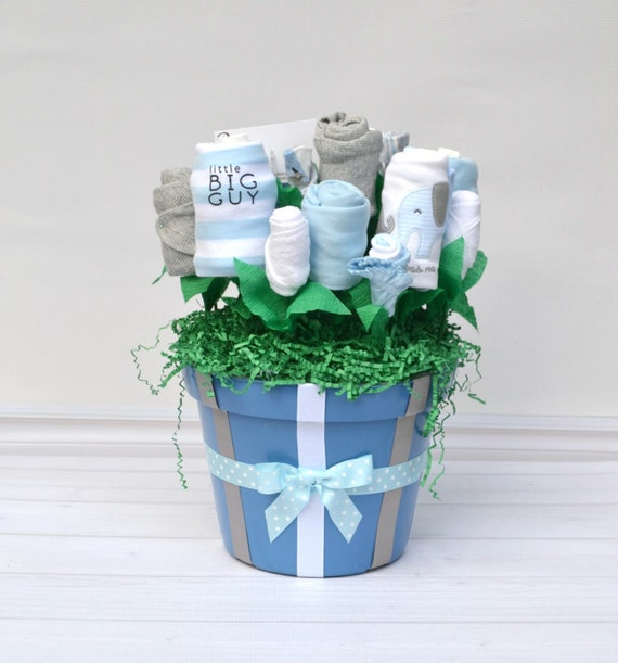 Elephant Baby Gift, Elephant Baby Shower, Corporate Baby Gift, Group Baby Gift, Boy Baby Gift Basket, New Mom Basket, Blue Elephant Gift