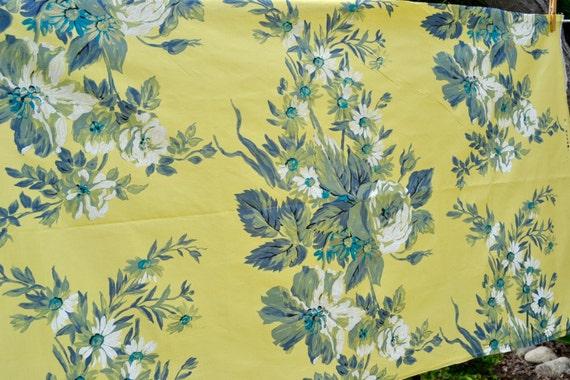 vintage stoff designer guild bemalte seide floral. Black Bedroom Furniture Sets. Home Design Ideas