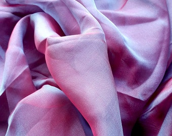 Wine Berry Irridescent Silk Chiffon