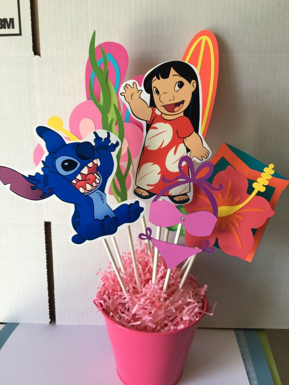 Lilo And Stitch Centerpiece Lilo And Stitch Birthday Theme