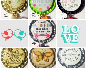 TOP Only**Cute Interchangeable Badge Reel Tops  *PICK ONE*