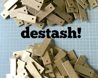 DESTASH Kraft Tags ... Mini Chipboard Tags Price Tags Hang Tags Product Tags Etsy Seller Supplies Blank Tags Small Tags Thick Sturdy Sale