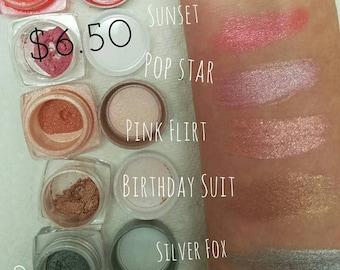 POP STAR Mineral Make up EYE Shimmer - Vegan Friendly, Sparkly Eye Shadow, Mica Powder 5ml - Medium Pink Frost Sparkle