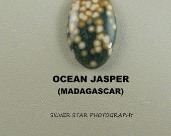 Ocean Jasper Oval Designer Cabochon for Jewelry Artisans.