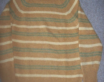 Vintage Olson and Veerhusen Shetland Wool Sweater Made in England Size 40