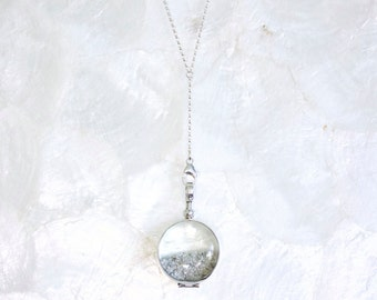Sands of Time Limited Edition Lariat Y Shake Necklace in Sterling Silver, 14kt Yellow, or Rose Gold Fill - Large Pendant