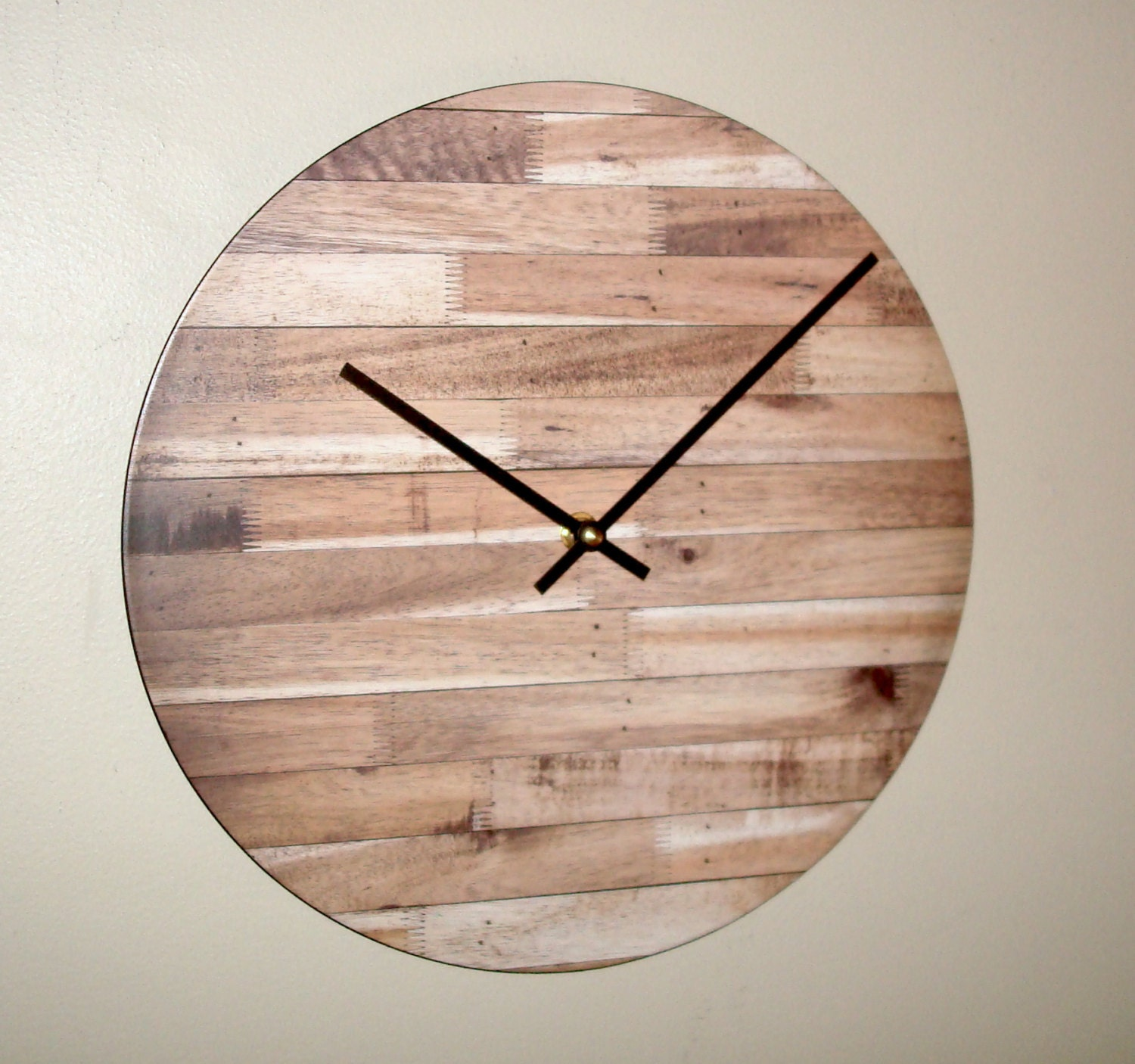 12 Inch Rustic Wall Clock Silent Unique Rustic By Makingtimetc