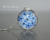 925 True Forget-me-not Blossoms Silver Necklace